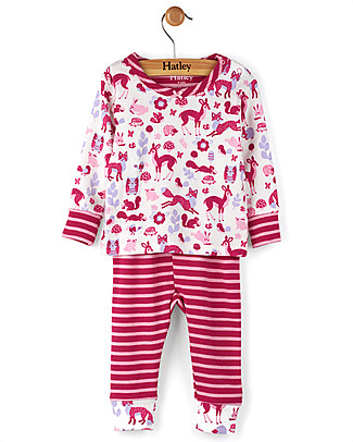 Hatley Pigiama Maniche Lunghe Baby, Creature del Bosco - 100% cotone BIO Pigiami