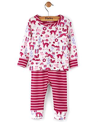 Hatley Pigiama Maniche Lunghe Baby, Creature del Bosco - 100% cotone  Pigiami