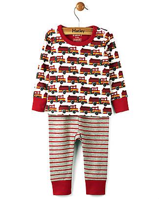 Hatley Pigiama Maniche Lunghe Baby, Pompieri - 100% cotone  Pigiami