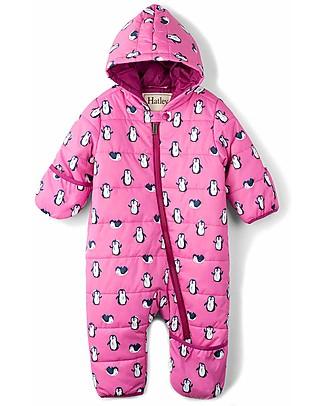 Hatley Tuta Termica Imbottita e Impermeabile - Pinguini Rosa (perfetta per il passeggino!) Tutine Termiche
