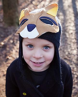 Hats Over Heels Cappello Invernale Canguro con Maschera Removibile, Blu Navy (2-5 anni) – 100% Lana Merino Cappelli