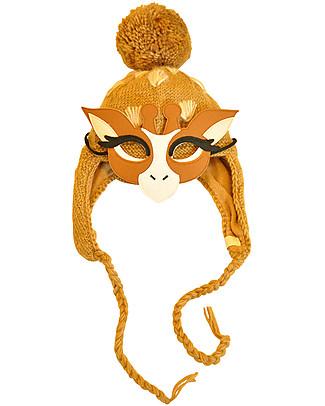 Hats Over Heels Cappello Invernale Giraffa con Maschera Removibile, Beige (2-5 e 5-8 anni) – 100% Lana Merino null