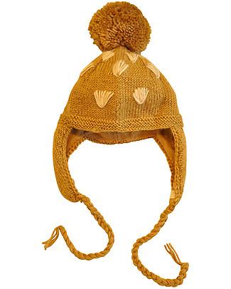 Hats Over Heels Cappello Invernale Giraffa con Maschera Removibile, Beige (6-12 e 12-24 mesi) - 100% Lana Merino Cappelli