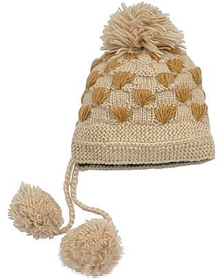 Hats Over Heels Cappello Invernale Spot Giraffa, Caramello (6-12 e 12-24 mesi) - 100% Lana Merino Cappelli