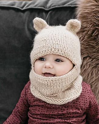 Hats Over Heels Passamontagna Invernale Leone, Beige (0-6, 6-12 e 12-24 mesi) - 100% Lana Merino Cappelli