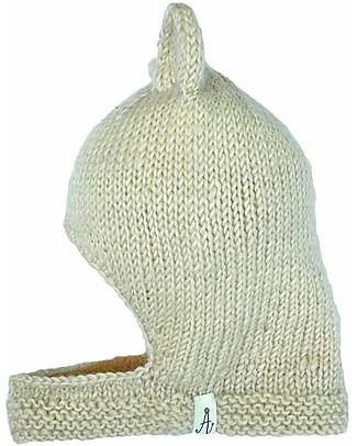 Hats Over Heels Passamontagna Invernale Leone, Beige (2-5 anni) - 100% Lana Merino Cappelli