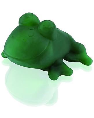 Hevea Gioco Bagnetto Fred la Rana, Verde - 100% gomma naturale Massaggiagengive