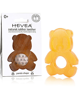 Hevea Natural Panda Teether - Sustainable & Safe Award Winning! (0-36 months) Bath Toys