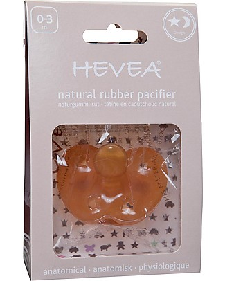Hevea Natural Star & Moon Pacifier/Soother (0-3 months) Dummies & Soothers