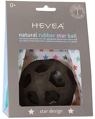 Hevea Star Ball - Grigio Scuro - 100% Gomma Naturale Massaggiagengive