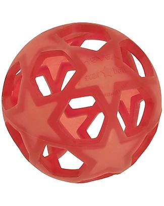 Hevea Star Ball - Rosso - 100% Gomma Naturale Massaggiagengive