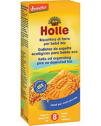 Holle Biscottino di Farro Bio per Bebè, 150 gr - Dall'8° mese Biscotti