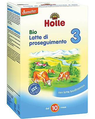 Holle Latte di Proseguimento in Polvere Bio 3 – Da 10 a 12 mesi circa Latte In Polvere Bio