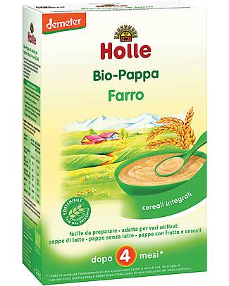Holle Pappa di Farro Integrale Bio, 250 gr – Da 4 mesi in su Pappe