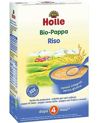 Holle Pappa di Riso Integrale Bio, 250 gr - Da 4 mesi in su Pappe
