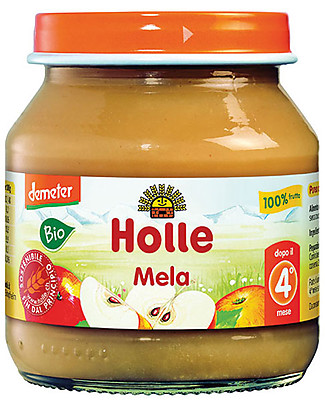 Holle Purea di Mela, 125 gr – 100% frutta, dal 4° mese Omogeneizzati