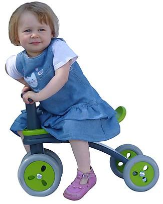 Hoppop Locco, Lime - Quadriciclo Senza Pedali in Legno - Divertente e Confortevole! Biciclette Senza Pedali