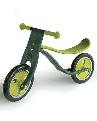 Hoppop Motta, Lime - Bicicletta Senza Pedali in Legno - Divertente e Confortevole! Biciclette Senza Pedali