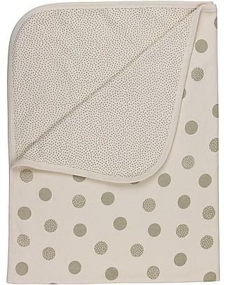 Huggee Copertina Baby a Pois, Grigio e Bianco, 100% Cotone Bio - 100x75 cm Coperte