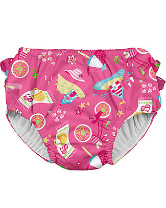 I Play Baby Girl Swim Diaper, Hot Pink – Washable, perfect at the beach or swimming pool! Swimming Trunks