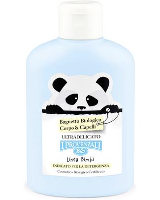 I Provenzali Bagnetto Biologico Corpo e Capelli - Ultradelicato (senza SLS, SLES, Parabeni o OGM) Bagno Doccia Shampoo