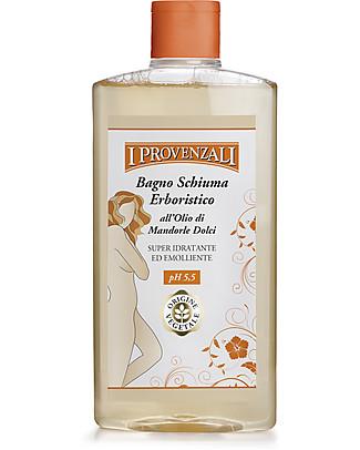 I Provenzali Bagno Schiuma Erboristico all'Olio di Mandorle Dolci, 400 ml Bagno Doccia Shampoo