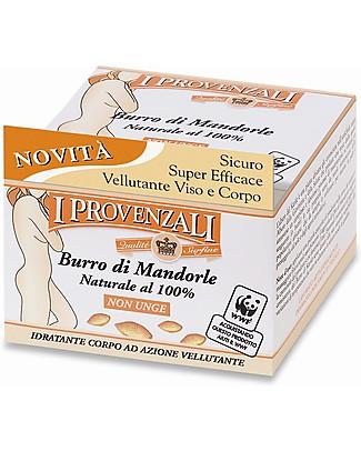 I Provenzali Burro Idratante Intensivo all' Olio di Mandorle Dolci,  100 ml – 100% biologico Creme e Olii