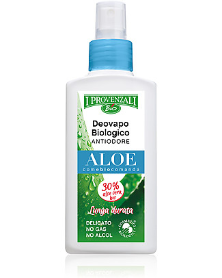 I Provenzali Deovapo Biologico Antiodore all'Aloe, 75 ml – No gas, no alcol Deodoranti