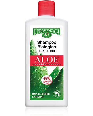 I Provenzali Shampoo Biologico Riparatore all'Aloe, 250 ml – Per capelli deboli e sfibrati Bagno Doccia Shampoo