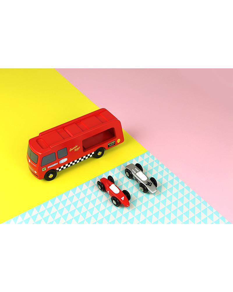 Ikonic Toys Camion Trasporta Macchinine da Corsa In Legno ...