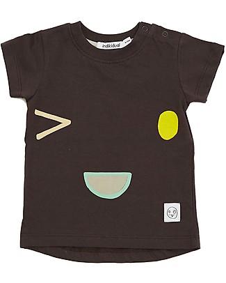 Indikidual Sake, T-Shirt Faccina, Nero - 100% cotone bio T-Shirt e Canotte