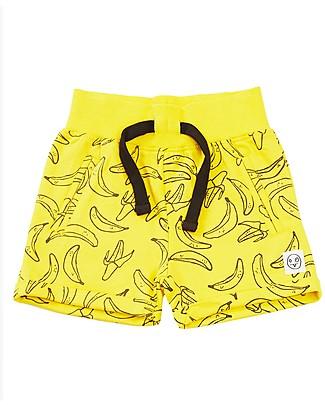 Indikidual Tamago, Pantaloncini Stampa Banana, Giallo - 100% cotone bio Pantaloni Corti