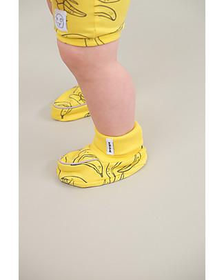 Indikidual Tempura, Pantofoline Baby, Giallo + Banana - 100% cotone bio Pantofole