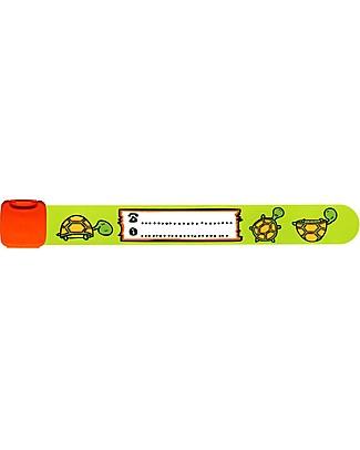 Infoband Bracciale S.O.S, Tartaruga - Verde Bracciali