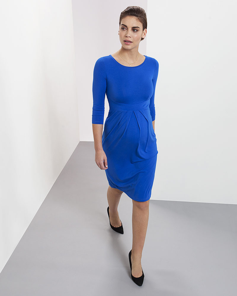 cacb13a61849 Isabella Oliver Abito Premaman Elegante Ivybridge - Blu Cobalto Vestiti