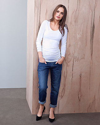 Isabella Oliver Top Premaman con Ruches - Bianco  null