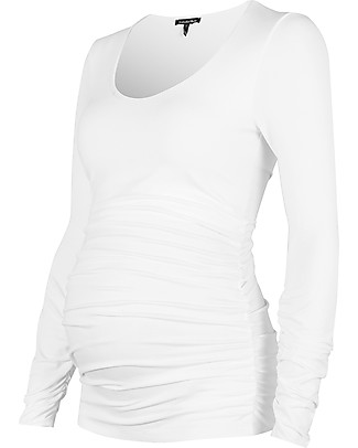 Isabella Oliver Top Premaman con Ruches - Bianco  Top
