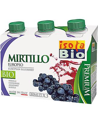 Isola Bio Succo e Polpa Premium, Mirtillo, 3x200 ml – 100% Bio, in brick Succhi Bio