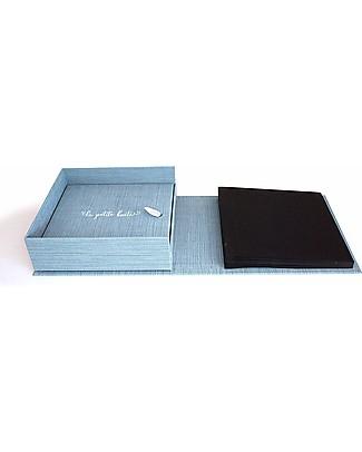 Italian Creative Book Scatola dei Ricordi ed Album Fotografico, Azzurro con Orso - 19x19 cm Album Dei Ricordi