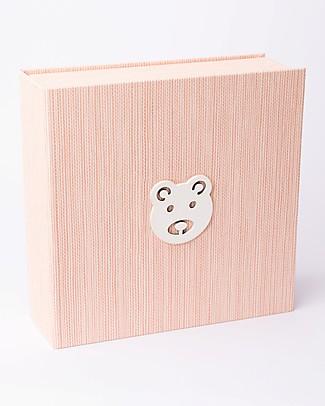 Italian Creative Book Scatola dei Ricordi ed Album Fotografico, Rosa con Orso - 19x19 cm Album Dei Ricordi