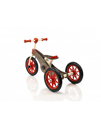 Italtrike Abc Chocolate Magic Wheels, Prodotto 2 in 1, da 1 a 6 anni - Da Triciclo Diventa Bicicletta! Biciclette