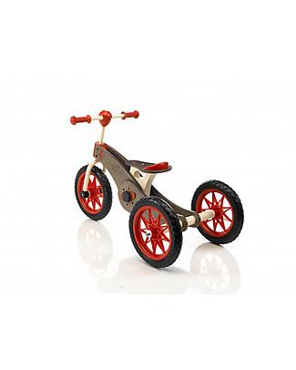 Italtrike Abc Chocolate Magic Wheels, Prodotto 2 in 1 - Da Triciclo Diventa Bicicletta! Biciclette
