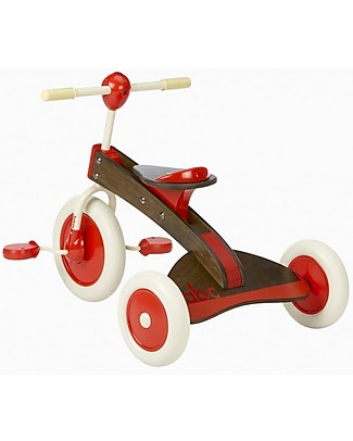 Italtrike Abc Chocolate, Triciclo in Legno, Uso sia Interno che Esterno Biciclette