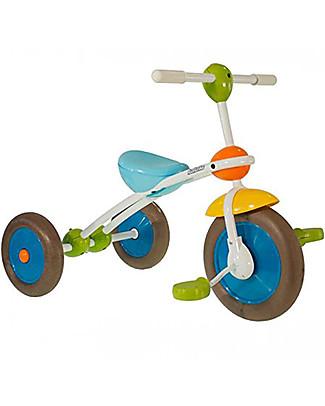 Italtrike ABC Learn and Ride, Triciclo con Telaio Bianco - Per Imparare a Pedalare la Prima Volta  Biciclette