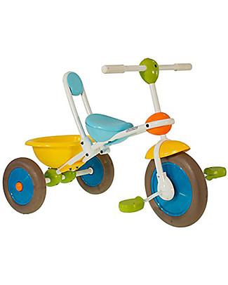 Italtrike ABC Learn and Ride, Triciclo con Vaschetta Portaoggetti - Per Imparare a Pedalare la Prima Volta Biciclette