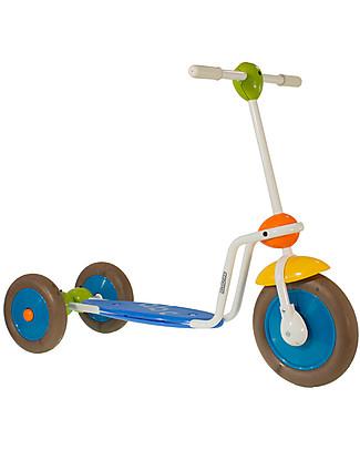 Italtrike ABC Scooter per Bambini, Monopattino a Tre Ruote con Ampia Pedana Poggiapiedi Biciclette Senza Pedali
