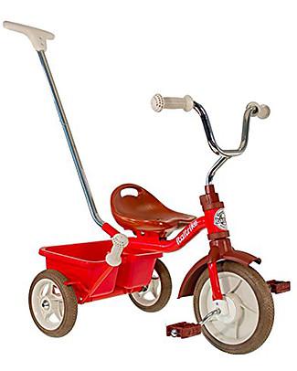 Italtrike Classic Line Passenger, Triciclo con Canna Rigida + Freno a Mano, Rosso Biciclette