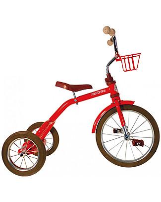 Italtrike Classic Line Spokes, Triciclo di Alta Qualità, Struttura in Metallo - Rosso Biciclette