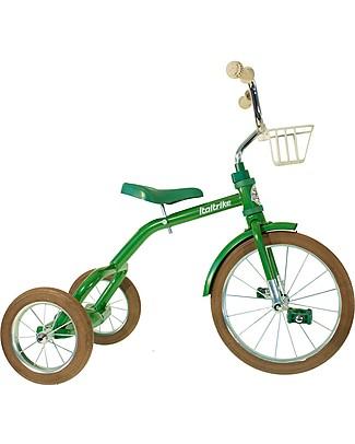 Italtrike Classic Line Spokes, Triciclo di Alta Qualità, Struttura in Metallo - Verde Biciclette
