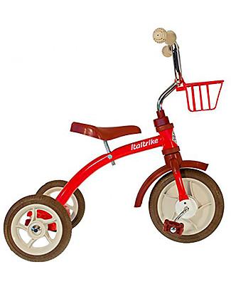 Italtrike Classic Line Super Lucy, Triciclo di Alta Qualità, Struttura in Metallo - Rosso Biciclette